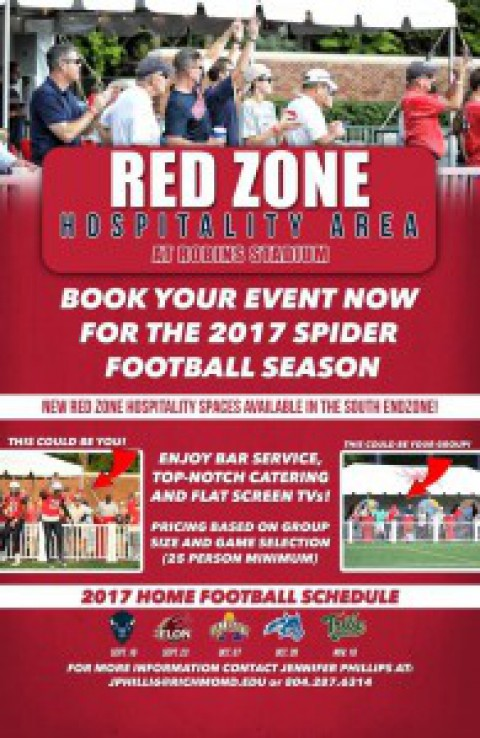 Spider Football 2017 Hospitality – Red Zone!