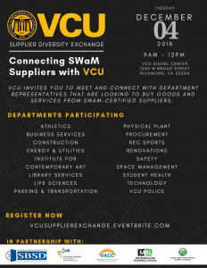 VCU Supplier Diversity Exchange Tuesday, December 4, 2018