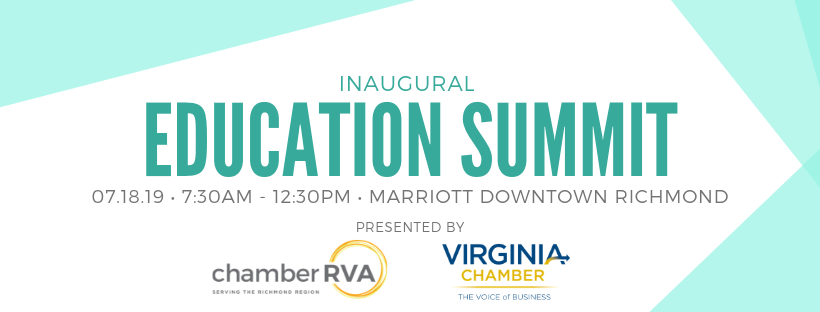 Registration is now open for ChamberRVA's Education Summit on July 18!