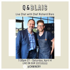 Live Instagram Event with Cooper's Hawk & Chef Richard Blais