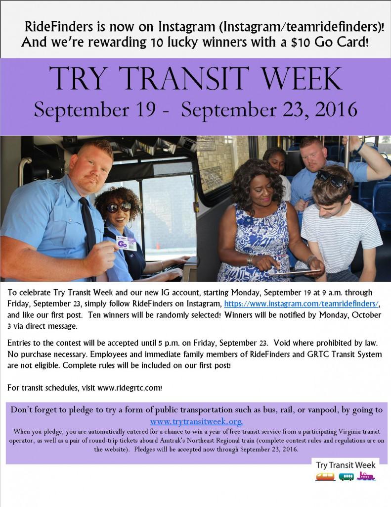 Try Transit Week is Here