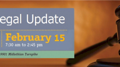 Join Richmond Society of Human Resource Management for a Legal Update Workshop on 2/15 @ 7:30 am