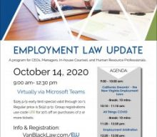Vandeventer Black's 2020 Employment Law Update