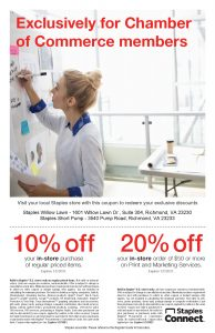 Staples Offers Exclusive Savings for ChamberRVA Members